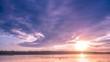 beautiful clouds sunset, time-lapse