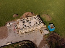Aerial Of A Building Under Construction