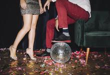 Man And Woman At Party