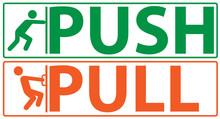 Push And Pull Vector Illustrat...