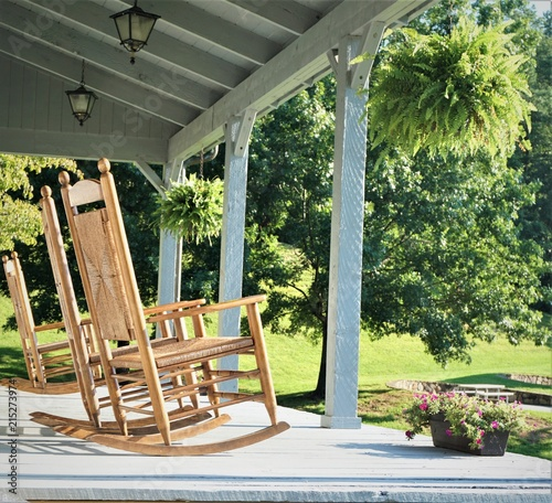 Super The Wooden Rocking Chairs At The Terrace House With The Squirreltailoven Fun Painted Chair Ideas Images Squirreltailovenorg