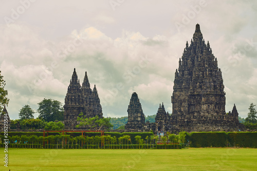Deurstickers Bedehuis Indonesia, Yogyakarta, Prambanan temple.