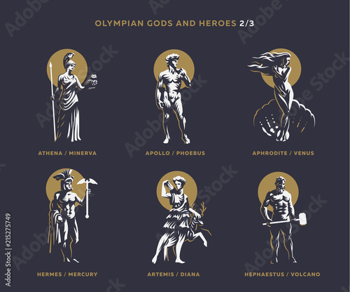 Olimpian gods and heroes. Wallpaper Mural