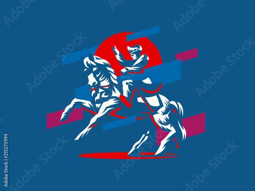 Fotografija Napoleon on horseback.