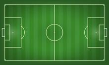 Soccer Field Vector Illustration. Top View