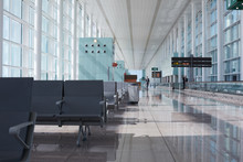 Modern Airport Hall With Empty...