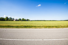 A View Of The Asphalt Road Thr...