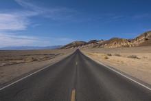 Paved Road In Desert Landscape...