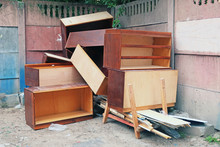 Old Wooden Furniture Thrown In...