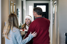 Home: Girl Excited To Be Home For Christmas