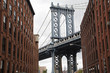 Brooklyn Bridge with Empire State Building from Brooklyn, New York City, New York, USA