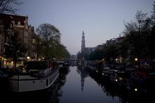 Amsterdam Canal At Dawn