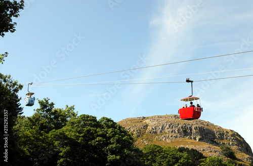 Cable Cars On The Great Orme In Llandudno, North Wales.
