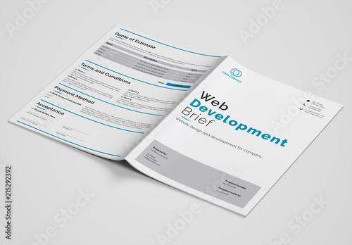 Web Development Brief Layout Kaufen Sie Diese Vorlage Und Finden