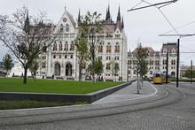 Tram By Hungarian Parliament B...