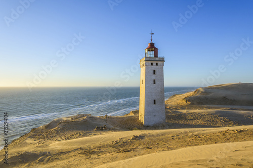 Lighthouse and Dunes, Rubjerg Knude, Lokken, North Jutland, Denmark