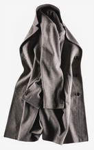 Brown Overcoat On White Background