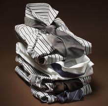 Stack Of Men's, Striped Dress ...