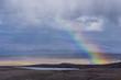 Rainbow over Highlands landscape, Isle of Skye, Scotland, UK