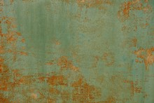 Green Red Rusty Metal Texture ...