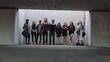 multi ethnic group of friends posing portrait trendy gritty urban