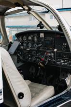 Cockpit In Small Plane