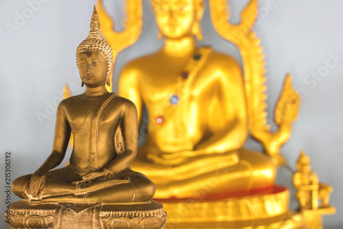 Tuinposter Boeddha Golden Buddha soft background.