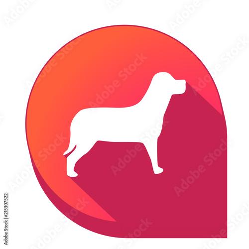 Fototapeta ikona z długim cieniem na tle strzałki pinezki obraz