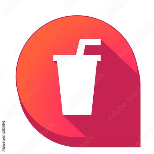 Fotografie, Obraz  ikona z długim cieniem na tle strzałki pinezki