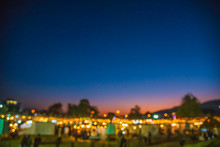 Abstract Blurred Image Of Night Festival .