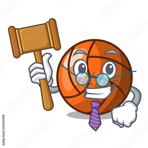 Fotografie, Tablou  Judge volleyball mascot cartoon style