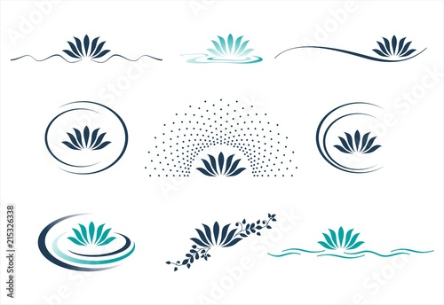 Fotomural water lily , Buddha , Eco friendly business logo design