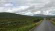 On the road. Landscape in the Losset city, Ireland