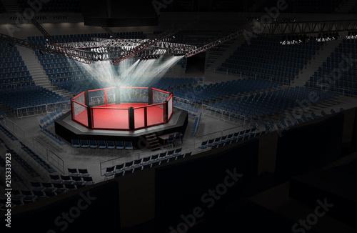 Deurstickers Vechtsport MMA Arena