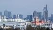 Skyline of London panning shot