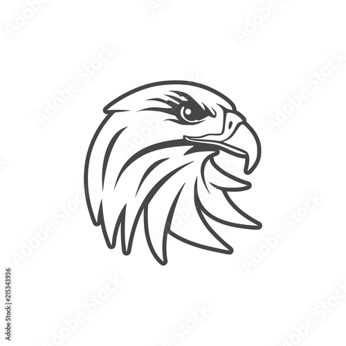 Fototapety, obrazy: Eagle mascot logo for sport team, Eagle head icon