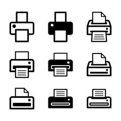 zestaw drukarek ikona