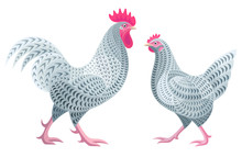 Stylized Chickens - Coucou Des...