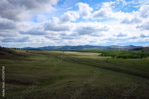 Foto op Aluminium Purper Панорамный вид с горы Куркак, Башкирия, Россия