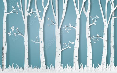 Naklejki na szafę astralny-las-drzew