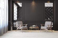Classic Black Modern Interior ...