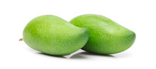 Green Mango Isolated On A Whit...
