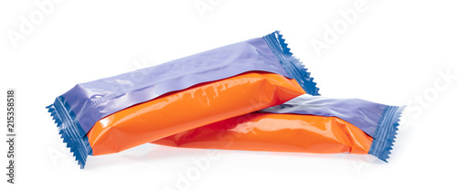 Valokuva  snack crisp packet isolated on white background