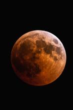 Eclissi Di Luna 27 Luglio 2018. Vista Dal Telescopio
