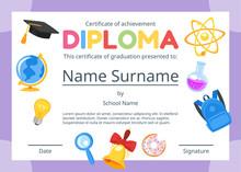 Kids Diploma Certificate For Preschool