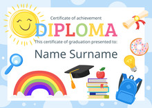 Kids Diploma Certificate For Preschool