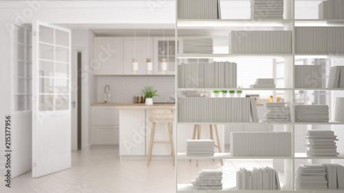 Bookshelf Close Up Shelving Foreground Interior Design Concept