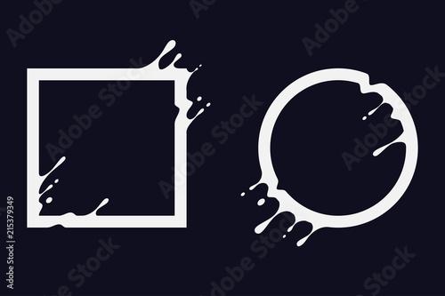 Liquid circle and square Fototapeta
