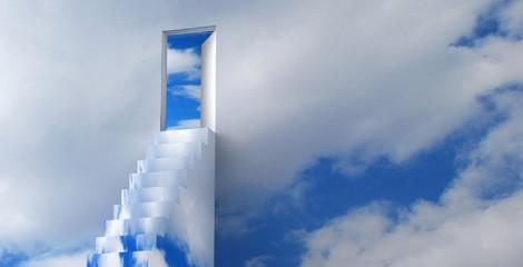 Panel Szklany Niebo Scala per il cielo