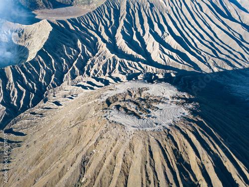 Foto op Plexiglas Nachtblauw Mount bromo Indonesia Drone View
